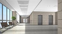 hospital corridor 3d model