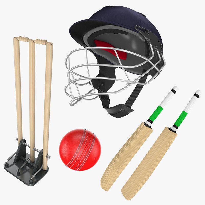 cricket helmet ball 3D model