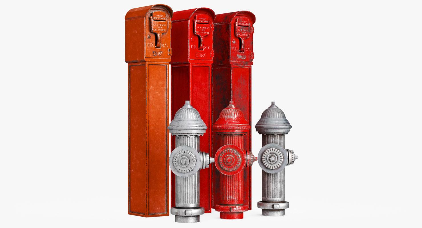 3D alarm hydrant model