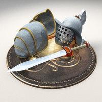 gladiator helmet model