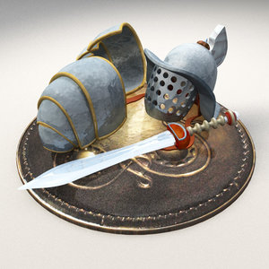 gladiator helmet model