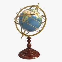 world globe terrestrial armillary sphere model