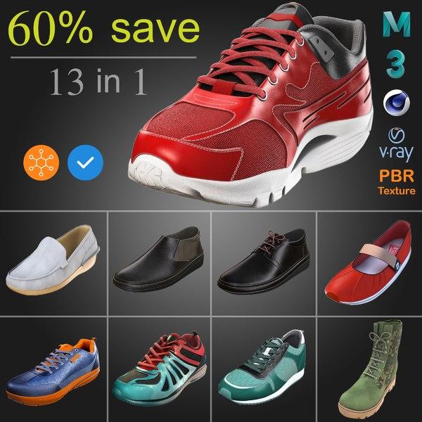 3D shoe pack model