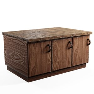 3D countertop cabinets model