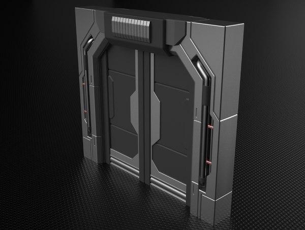 sci-fi door hp 3D
