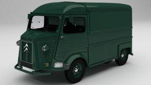 citroen h 1980 3D model