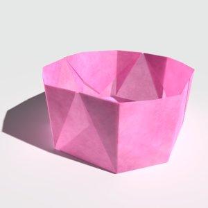 origami bowl model