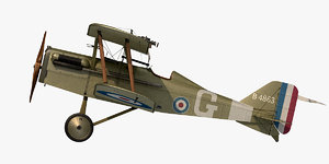 royal aircraft se5a mccudden 3D model