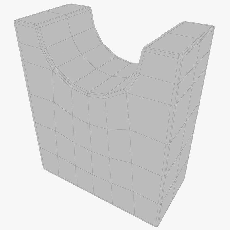 3D concrete pipe holder model