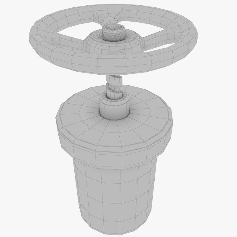 pipe valve 3D model