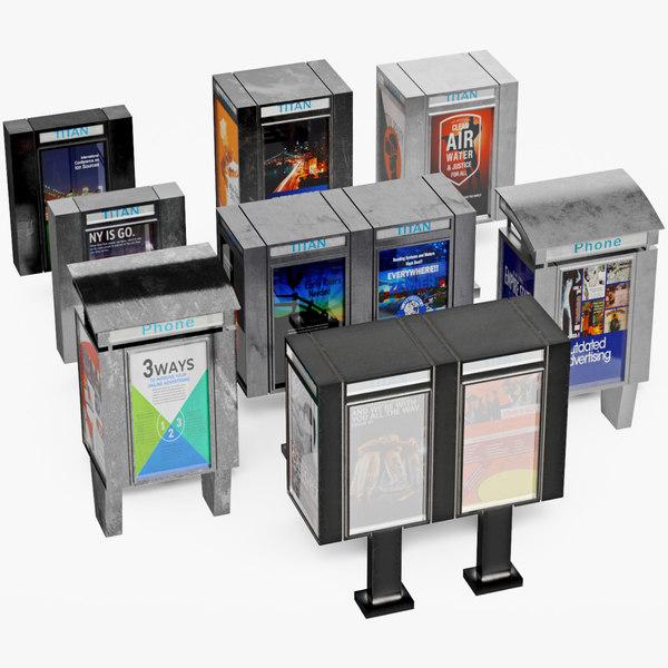 phone booth billboard 3D