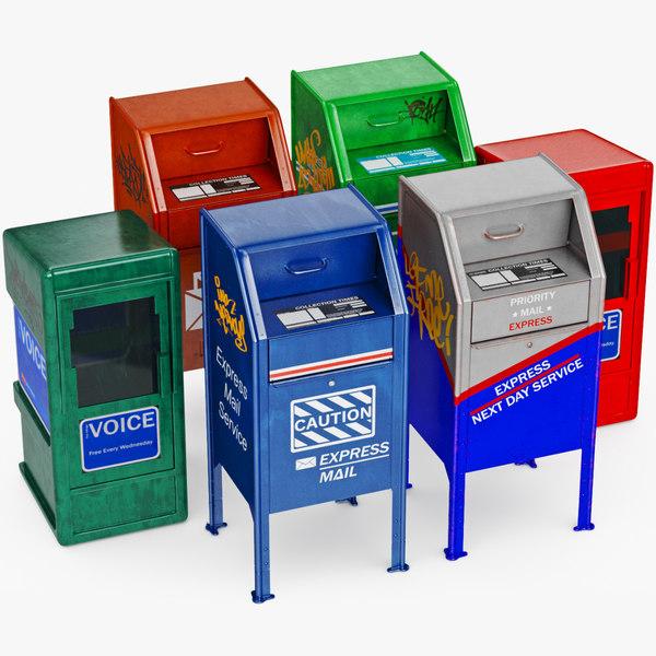 mailbox mail newspaper model