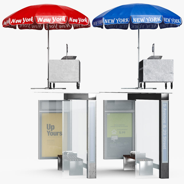 3D bus stop umbrella