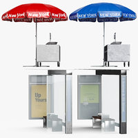 Bus Stop Umbrella Outdoor Shop