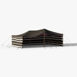 qatar arabian tent 3d model