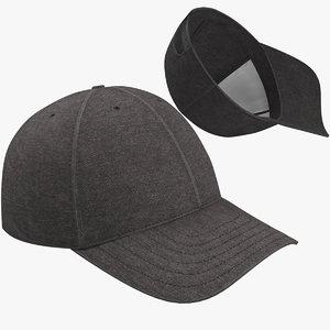 baseball cap 01 3D model