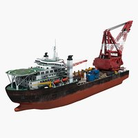3D crane ship 1