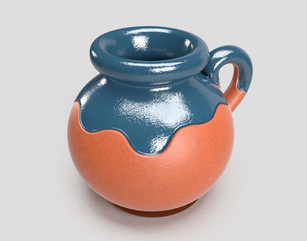 mexican clay jug 3D
