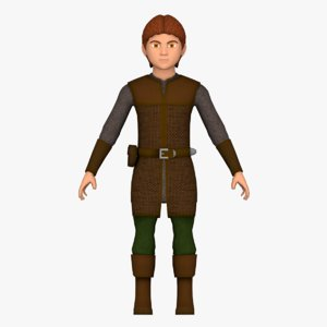 fantasy medieval young male 3D