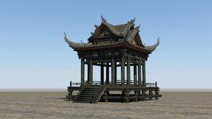luxurious pavilion ancient 3D model