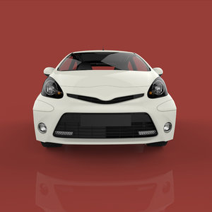 3D hatchback car materials