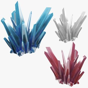 blue crystals 3D