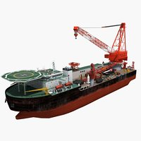 3D ship crane