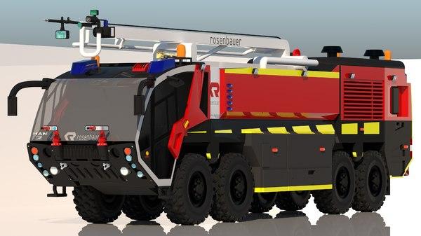 3D firetruck airport truck