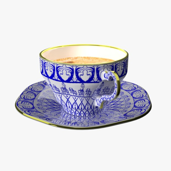 fancy coffee cup model