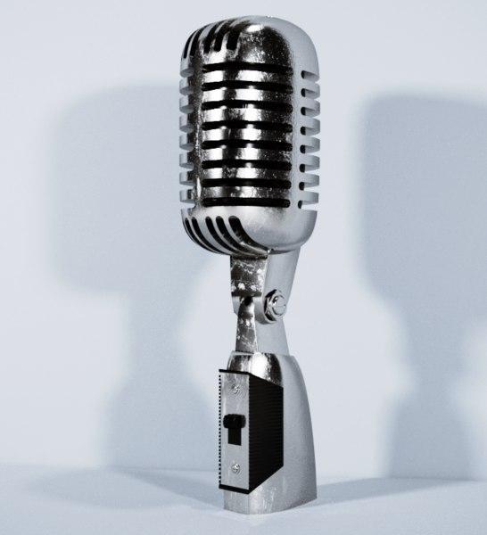 microphone vintage elvis 3D model
