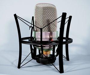 microphone vintage retro 3D model
