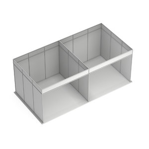 3D trade booth box white