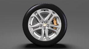 holden commodore ss wheel 3D model