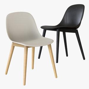 3D muuto fiber chair wood model