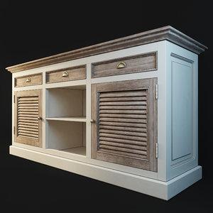 3D chest sideboard secret maison