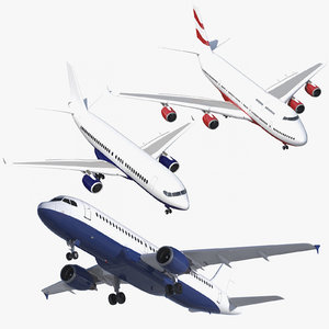 3D airplanes rigged model