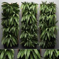 vertical gardening green wall 3D model