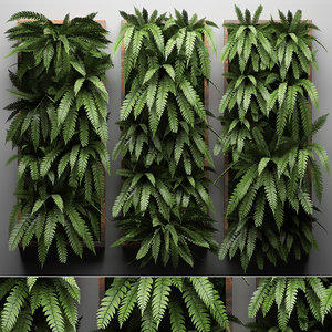 vertical gardening green wall 3D model
