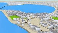 Mumbai cityscape 3d model