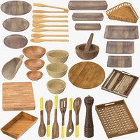 wooden kitchenware wood model