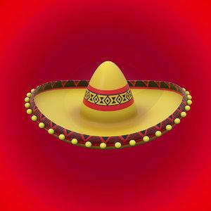 mexican hat 3D model
