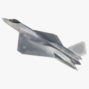 3D yf-23 black widow