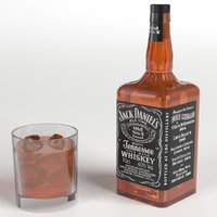 jack daniel s whiskey 3d max