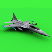 3D jf-17 fighter aircraft