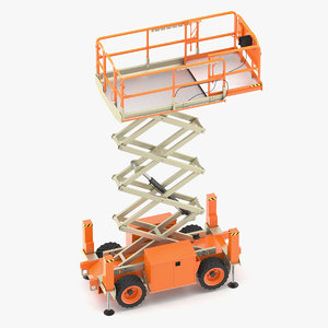 3D jlg lift engine model