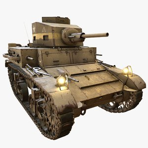 m2 light tank 3D model
