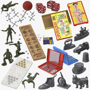 3D board games model