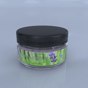 body wax jar 3D