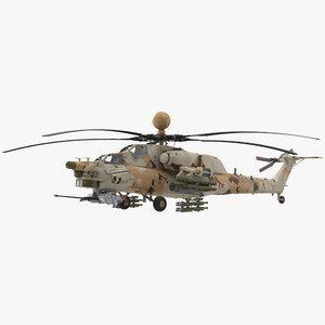 3D mi-28n desert model