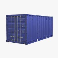 3D intermodal container 20 model